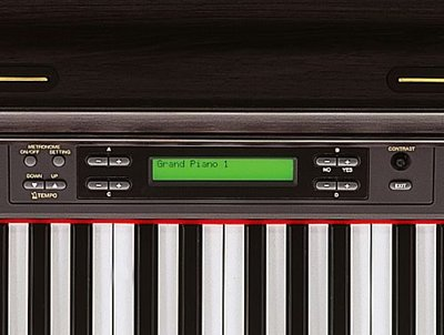 Clavinova CLP-270/280 GH3 keyboard and LCD.